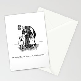Use Your Words (An Homage To Edward Gorey) Stationery Cards