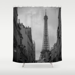 Fight Like a Girl Paris Vintage Shower Curtain