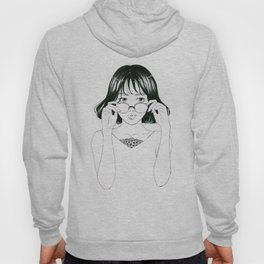 Girl in glasses Hoody