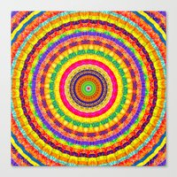 batik Canvas Prints featuring Batik Bullseye by Peter Gross