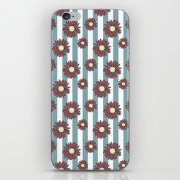 Echinacea Striped Floral Print iPhone Skin
