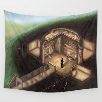 tomb raider Wall Tapestries featuring Maeshowe Tomb by Rushelle Kucala Art