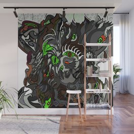 Colored Surreal hallowed tree Wall Mural