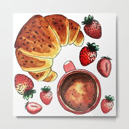 Breakfast, maybe! Metal Print