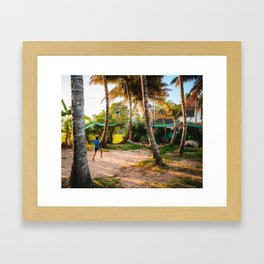 Play on the Backwaters Framed Art Print