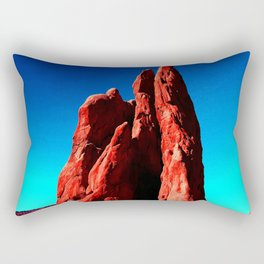 Colorful Sculptures Rectangular Pillow
