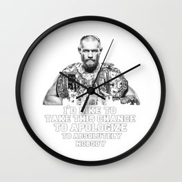 apologize to absolutely nobody Wall Clock