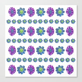 Blue and Purple Pattern Canvas Print