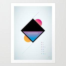 minimal natural Art Print