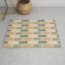 SCANDI GARDEN 01-12, nature colors on light golden Rug