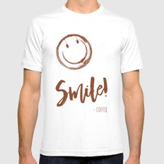 Smile! - Coffee - color version Mens Fitted Tee MEDIUM White