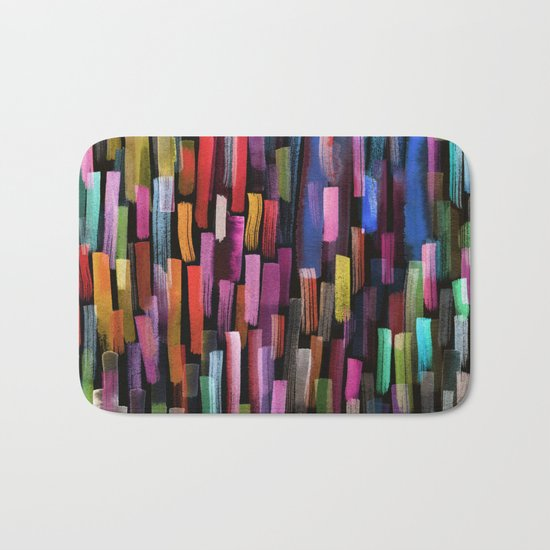 colorful brushstrokes pattern Bath Mat