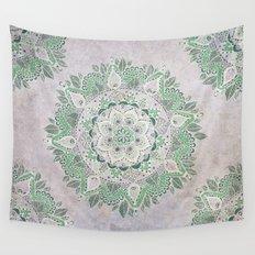 Spring Rain Mandala Wall Tapestry