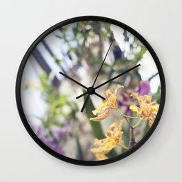 Orchid I Wall Clock