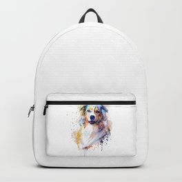 Australian Shepherd Portrait Backpack