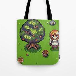Redhead Girl Fiel Scene - RPG Char - Pixel Art Tote Bag