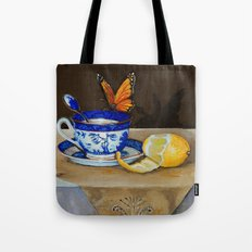 Teacup with Butterfly Tote Bag