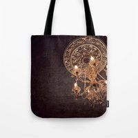 chandelier Tote Bags featuring chandelier by shannonblue