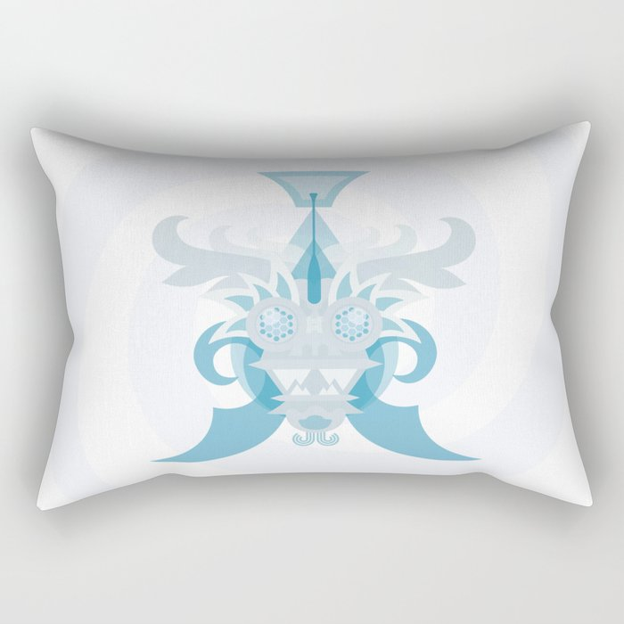 Crystal Sea Creature Rectangular Pillow