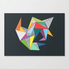 Abstract Triangles Canvas Print