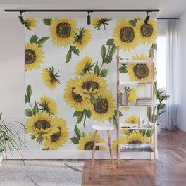Lovely Sunflower Wall Mural
