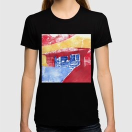 Abstract Building Red T-shirt