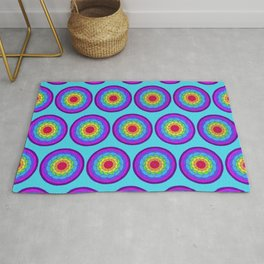 Layers of Rainbows 1 Rug
