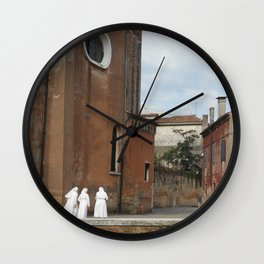 3 Nuns Venice Italy Photograph | Christian Sisters | Catholic Photography Wall Clock