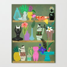 Flowers and Goddesses Shelf Canvas Print