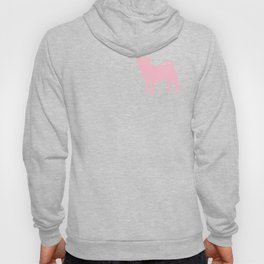 Pastel Pink Pugs Pattern Hoody