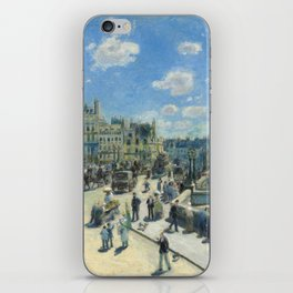 Pont Neuf Paris Painting by Auguste Renoir iPhone Skin