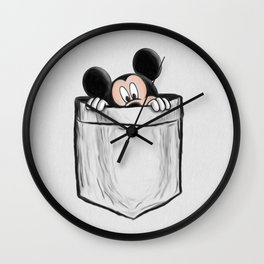 Mickey in the Pocket Wall Clock