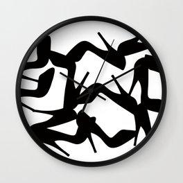 Shoe Fetish (Version 2) High Heel Shoe Art Wall Clock