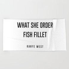 Fish fillet Beach Towel