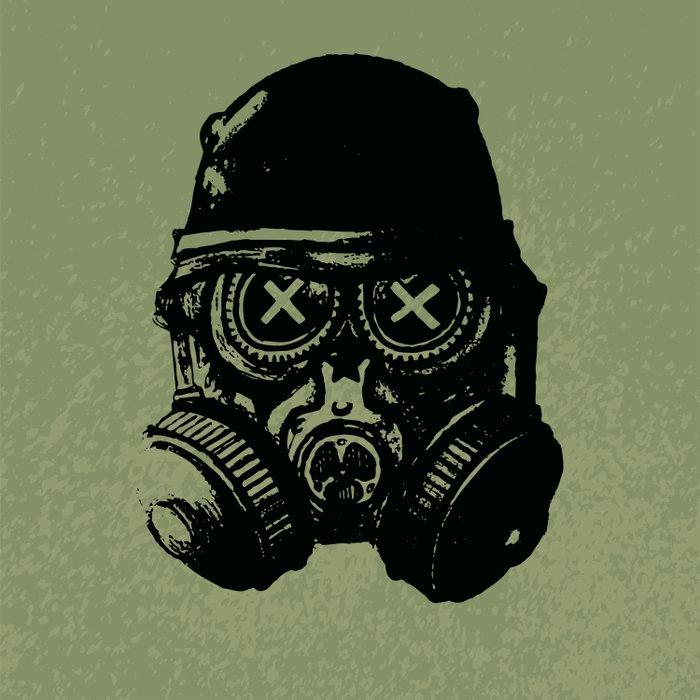 Gas mask skull Comforters