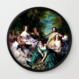"Franz Xaver Winterhalter's masterpiece ""The Empress Eugenie surrounded by her Ladies in waiting"" Wall Clock"