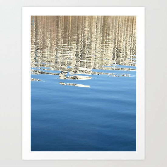White Water Reflection Art Print