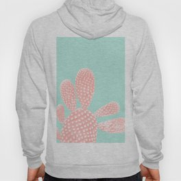 Apricot Blush Cactus on Mint Summer Dream #1 #plant #decor #art #society6 Hoody