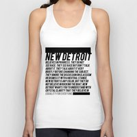 detroit Tank Tops featuring New Detroit by ashurcollective