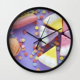 Purple Gummy Candy Wall Clock