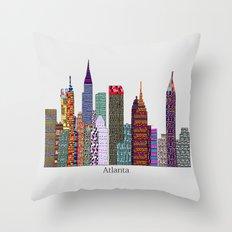 Atlanta city skyline  Throw Pillow
