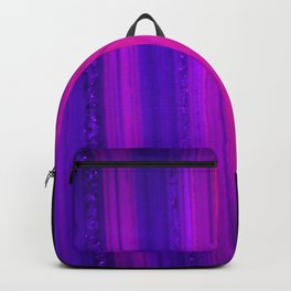 The edge of a Pink UV-glowing agate (2) Backpack