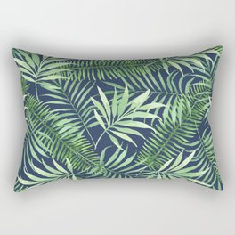 Tropical Branches on Dark Pattern 04 Rectangular Pillow