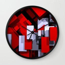boxes - portrait format Wall Clock