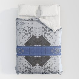 Blue and White Crumbling Comforters