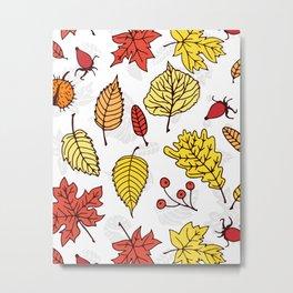 Colorful autumn pattern 3 Metal Print