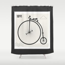 Penny Farthing 1891 Shower Curtain