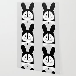 Rabbit BW Wallpaper