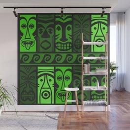 Jungle Green Tikis! Wall Mural