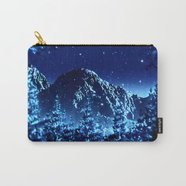 moonlight winter landscape Carry-All Pouch